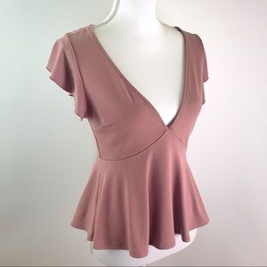 LIKE NEW 🎀 Urban Outfitters Pink Peplum Blouse